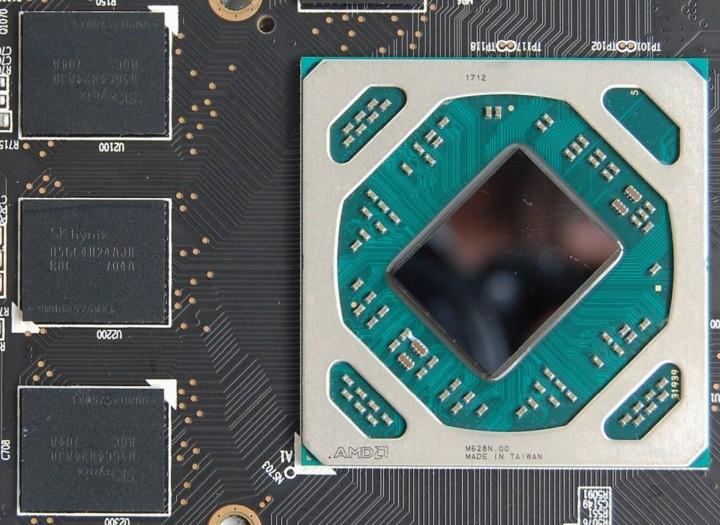 Рис. 7 – Графическое ядро и чипы оперативной памяти