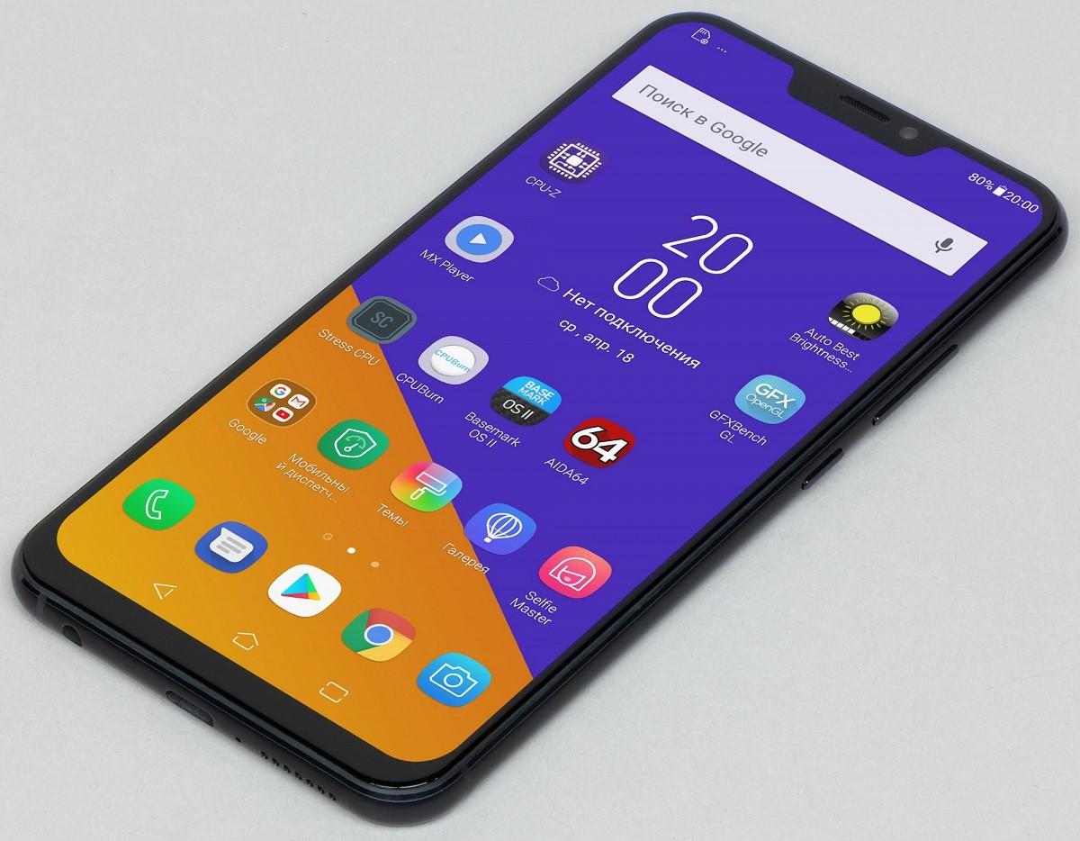 Рис. 6 Вид смартфона сверху