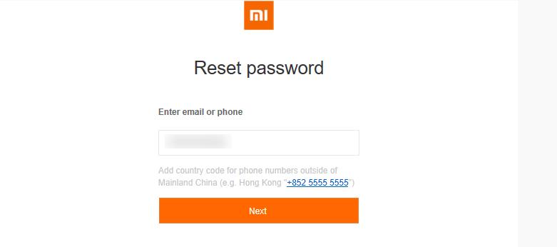 <Рис. 8 Форма заполнения при восстановлении пароля>