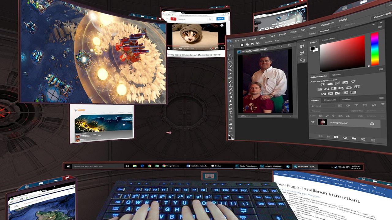 Рис. 17. Виртуальный рабочий стол