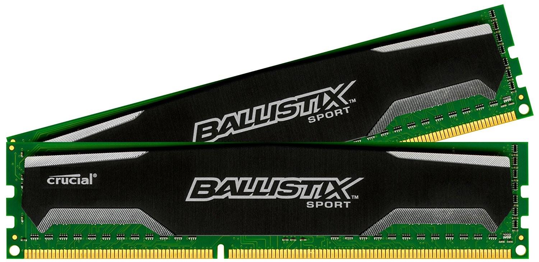 Рис.2. Модули оперативной памяти Crucial Ballistix Sport