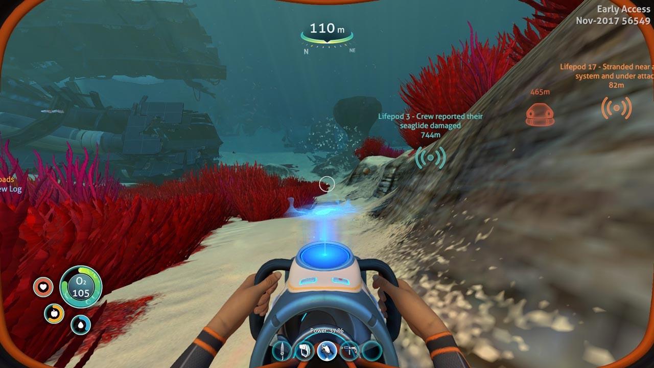 Рис. 22. Исследование подводных глубин