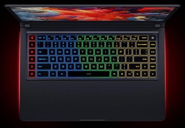 Рис. №6. Четырехсекционная подсветка клавиатуры