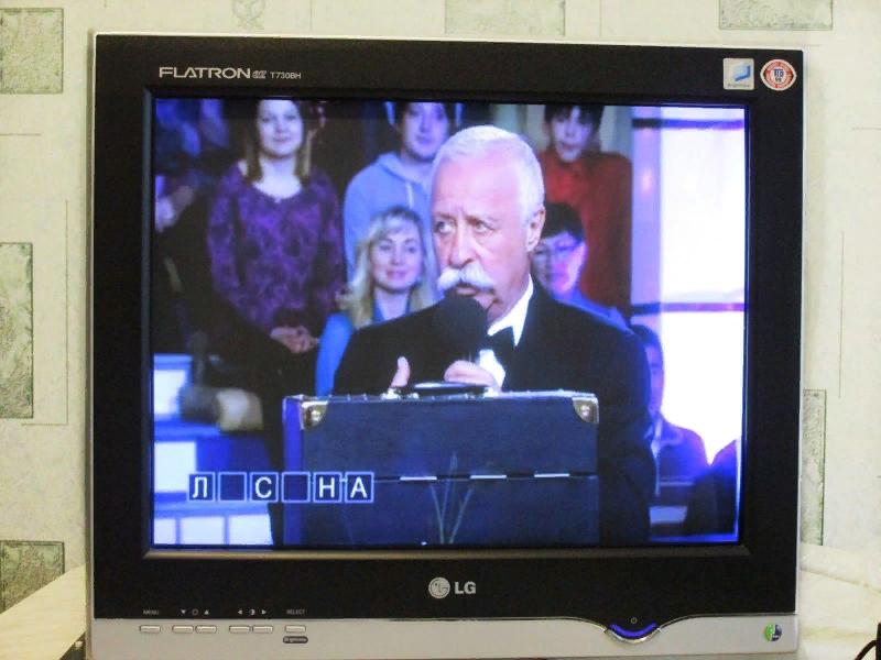 Рис. 1. Старый ЭЛТ-монитор в роли телеприёмника.