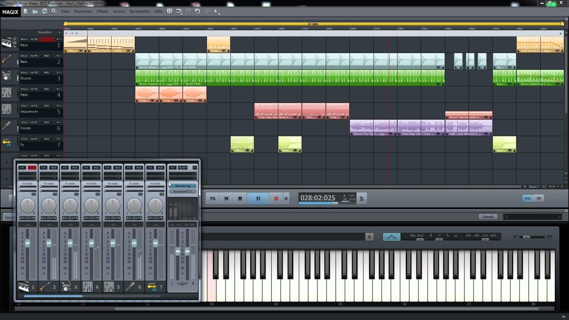 Рис.2. Интерфейс приложения MAGIX Music Maker 2015