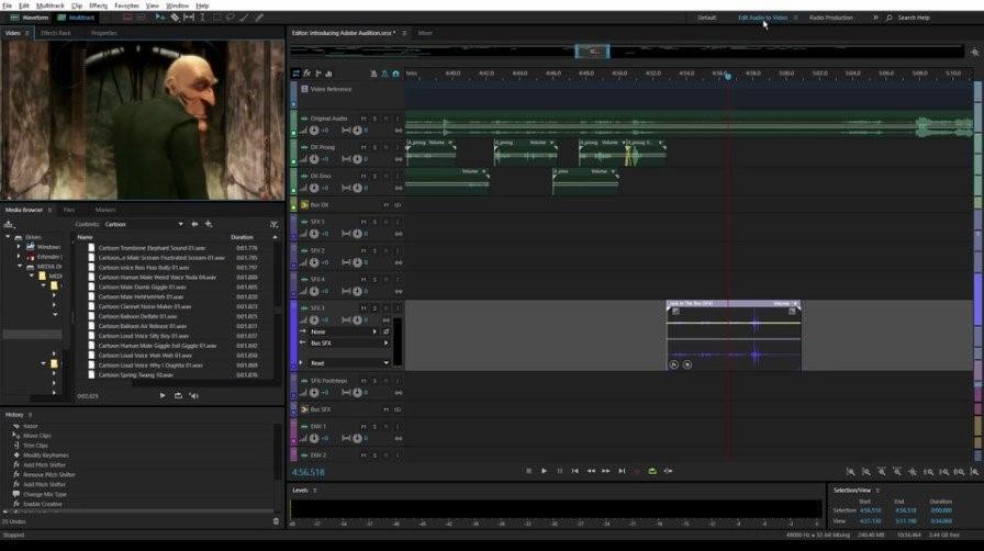 Рис.6. Интерфейс приложения Adobe Audition