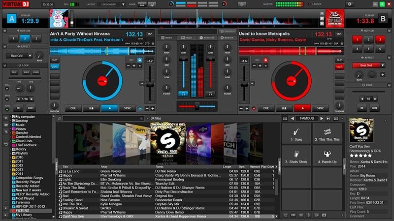 Рис.9. Интерфейс приложения Virtual DJ Home