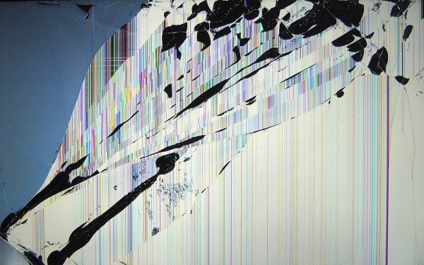 Рис. 9 – Побитый экран