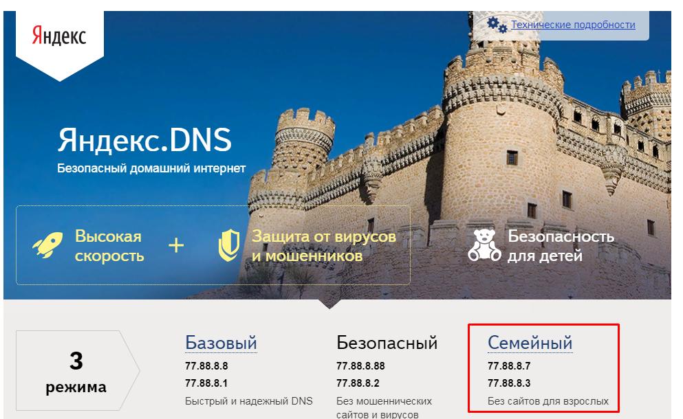 Рис. 12. Страница dns.yandex.ru.