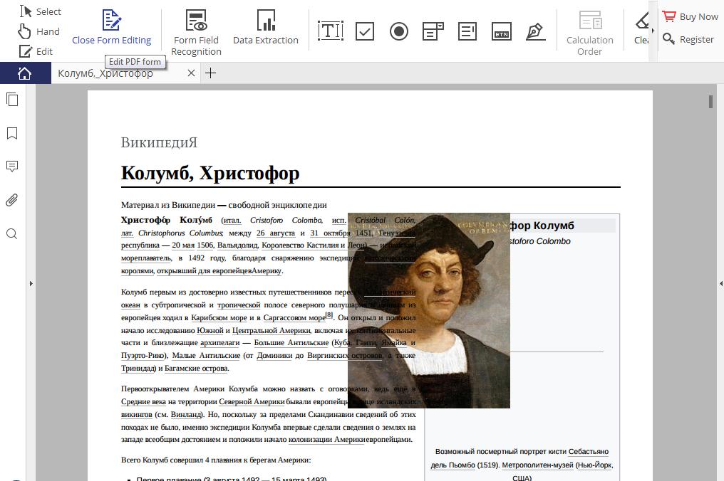 Рис. 9. Редактирование PDF-форм.