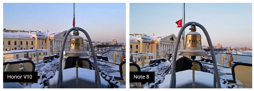 Рис. 12. Сравнение с Samsung Galaxy Note 8