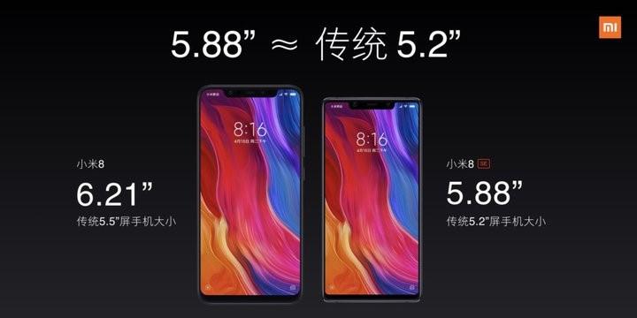 Рис. 2. Xiaomi Mi 8 (слева) и SE (справа)