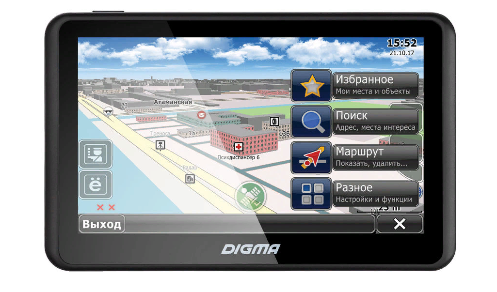 Рис. 7. Бюджетная модель Digma AllDrive 505.