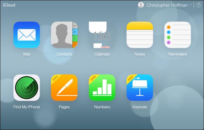 Рис.7 – Аккаунт на сайте iCloud